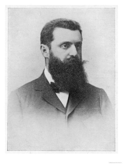 Theodor Herzl Hungarian Zionist Leader--Giclee Print