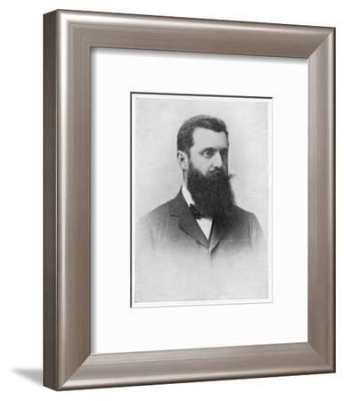 Theodor Herzl Hungarian Zionist Leader--Framed Giclee Print