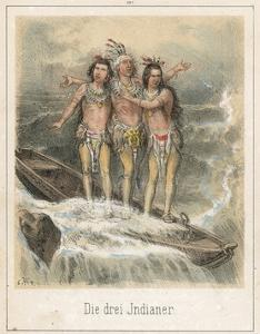The Three Indians by Theodor Hosemann