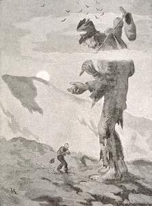 Norwegian Giant Little Fred and the Giant Beggar by Theodor Kittelsen
