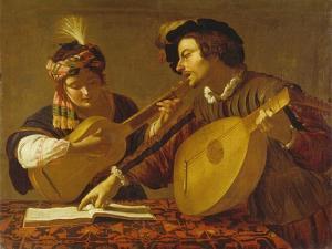 Das Musizierende Paar. (Kopie) by Theodor Rombouts