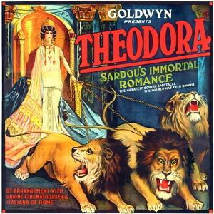 THEODORA (aka TEODORA; aka THEODORA, THE SLAVE PRINCESS), Rita Jolivet on 6-sheet poster art, 1919.