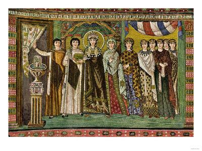 Theodora, Empress of the Eastern Roman Empire, and Her Court--Giclee Print