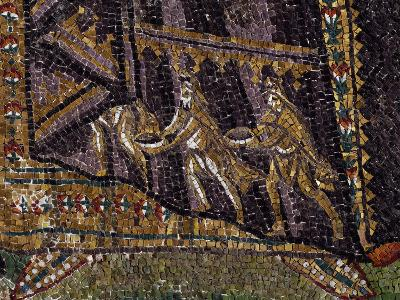 Theodora with Her Entourage, Mosaic, South Wall of Apse, Basilica of San Vitale--Photographic Print