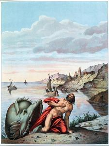 Jonah Thrown out by the Whale on the Shore by Theodore Amst