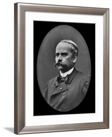 Theodore Barriere (1823-77), from 'Galerie Contemporaine Des Illustrations Francais' C.1890S-Nadar-Framed Giclee Print