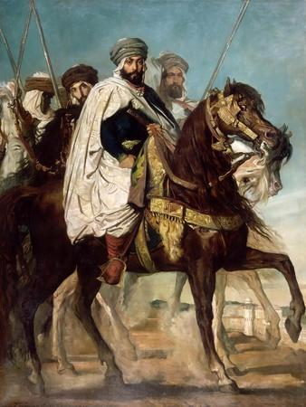 Ali-Ben-Hamet, Caliph of Constantine and Chief of the Haractas, Followed by His Escort