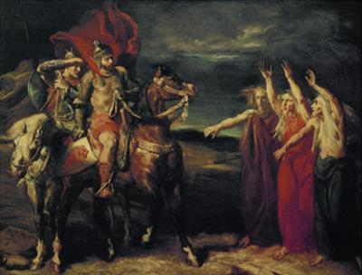 MacBeth and the Three Witches, 1855