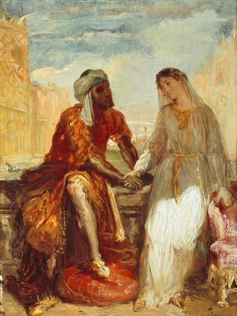 Othello and Desdemona, 1844