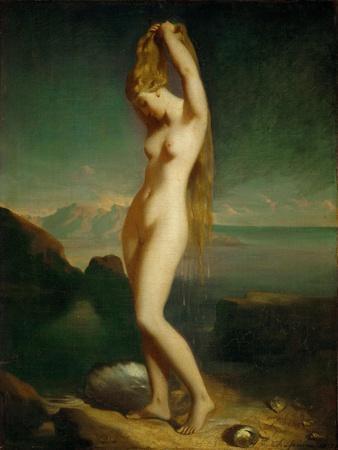 Venus Anadyomene, 1838, Salon 1839 Canvas 65.5 x 55 cm R.F. 2262.