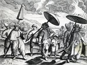 A Group of People from 'India Orientalis', 1598 by Theodore de Bry