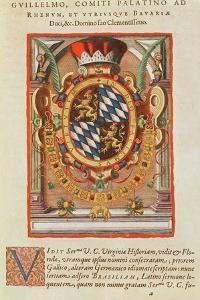 Coat of Arms, from 'Americae Tertia Pars..', 1592 by Theodore de Bry