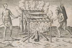 """Departure from Lisbon for Brazil, the East Indies and America,From """"Americae Tertia Pars...""""-Theodor de Bry-Giclee Print"""