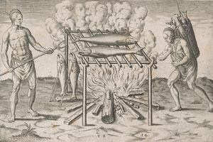 Cooking Fish by Theodore de Bry