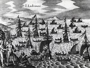 Islands of Thieves (Islas De Los Ladrones by Theodore de Bry