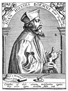 Jan Hus, from 'Weltgeschichte' by Professor Dr J von Pfluck-Harttung by Theodore de Bry