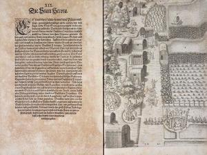 Page XIX with Secota Village by Theodore de Bry