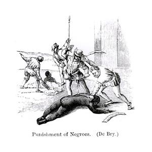 Punishment of Negroes, Santo Domingo, 1873 by Theodore de Bry