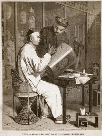 The Lantern-Painter, Illustration from 'The Illustrated London News', 1861 (Litho)