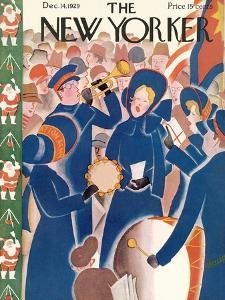 The New Yorker Cover - December 14, 1929 by Theodore G. Haupt