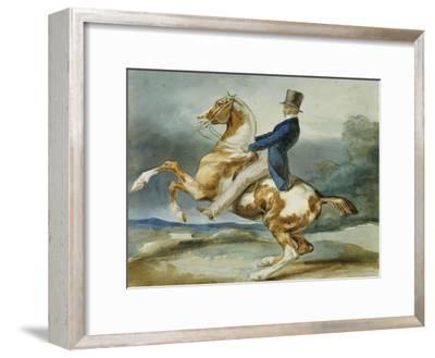 A Rider and His Rearing Horse; Un Cavalier Cabrant Son Cheval
