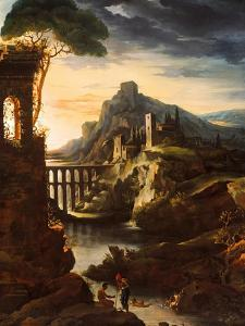 Evening: Landscape with an Aqueduct, 1818 by Theodore Gericault