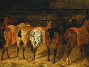 Five Horses Viewed from the Back by Théodore Géricault