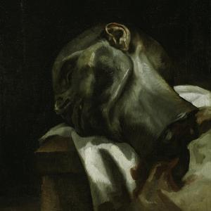 Head of a Guillotined Man, 1818-19 by Theodore Gericault