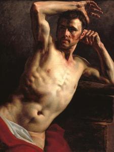 Male Nude Half-Length by Théodore Géricault