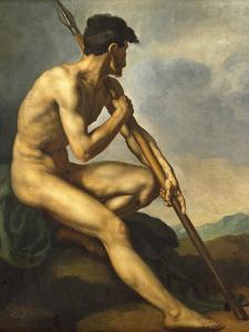 Nude Warrior with a Spear, C.1816 by Théodore Géricault
