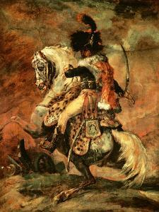 Officer of the Hussars on Horseback, 1812/16 by Théodore Géricault
