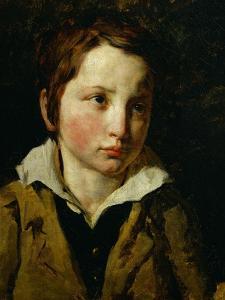 Portrait presume d'Olivier Bro. Oil on canvas. Inv. 10.265. by Theodore Gericault