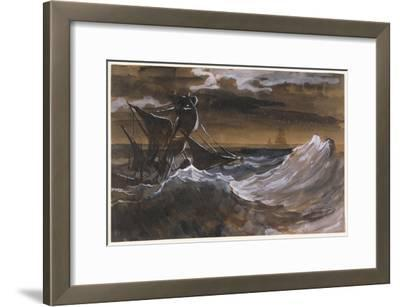 Sailboat on a Raging Sea, c.1818-9