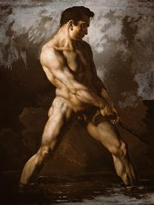 Study of a Male Nude, 1817/20 by Théodore Géricault