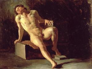 Study of a Nude Man by Théodore Géricault