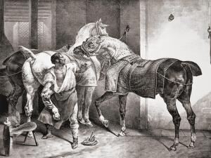 The Farrier, from Etudes De Cheveaux, 1822 by Théodore Géricault