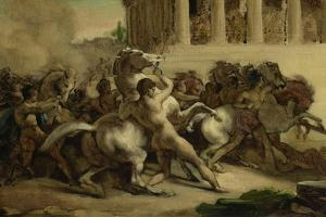 The Race of the Riderless Horses, 1817 by Theodore Gericault