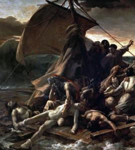 The Raft of the Medusa, Catastrophe in Which Survivors of the Ship Medusa Drifted for 27 Days by Théodore Géricault