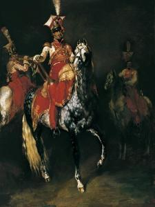 Trompetiste a cheval de la garde imperiale de Napoleon by Theodore Gericault