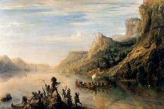Spanish Galleon Taken by the Pirate Pierre Le Grand Near the Coast of Hispaniola, in 1643-Théodore Gudin-Mounted Giclee Print