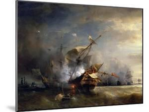 The Naval Battle Near Lizard Point, Cornwall on 21 October 1707 by Théodore Gudin
