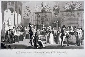 Interior View of the Automaton Exhibition in the Gothic Hall, Haymarket, London, 1826 by Theodore Lane