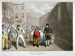 Playing Rackets, Fleet Prison, London, C1825 by Theodore Lane