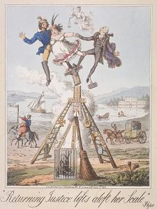 Returning Justice Lifts Aloft Her Scale, 1821 by Theodore Lane