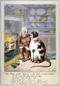 The Man of the Woods and the Cat-O'-Mountain, 1821 by Theodore Lane