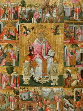 Saint Spyridon, Bishop of Trimythous with Scenes from His Life, Second Half of the 17th C