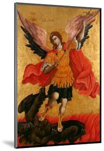 The Archangel Michael, Second Half of the 17th C by Theodore Poulakis