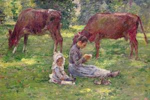 Watching the Cows by Theodore Robinson