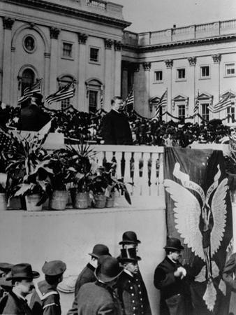 Theodore Roosevelt Speaks During His Inauguration Ceremony