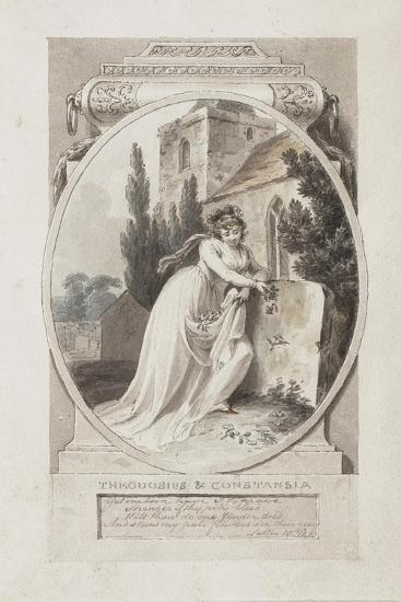 Theodosius and Constansia'-Richard Corbould-Giclee Print